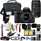 Canon EOS Rebel T6i 18MP Digital SLR Camera Retail Packaging Extreme Video Bundle (18-55 & 75-300 Premium Bundle)