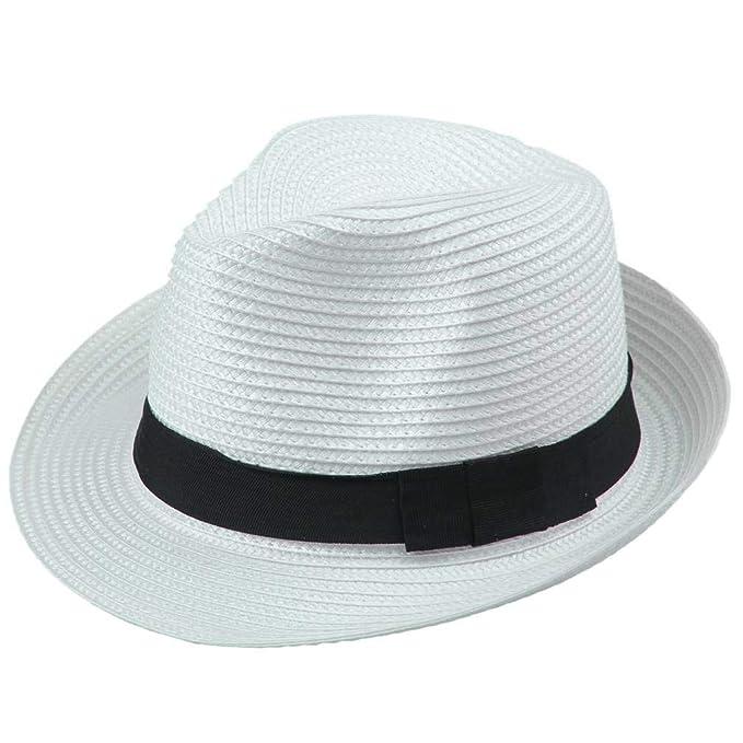 Beanie Sombrero De Paja Mujer para para Hombre Verano Modernas Casual  Protector Solar Panamá Sombrero Moda Casual Vacaciones Playa Sombrero De  Jazz Sombrero ... 321bd547423