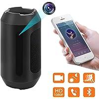 cámara Oculta del Altavoz del Bluetooth, cámara Nana inalámbrica de la Mini cámara de la niñera de la detección de Movimiento de la cámara espía 1080P con la visión Nocturna