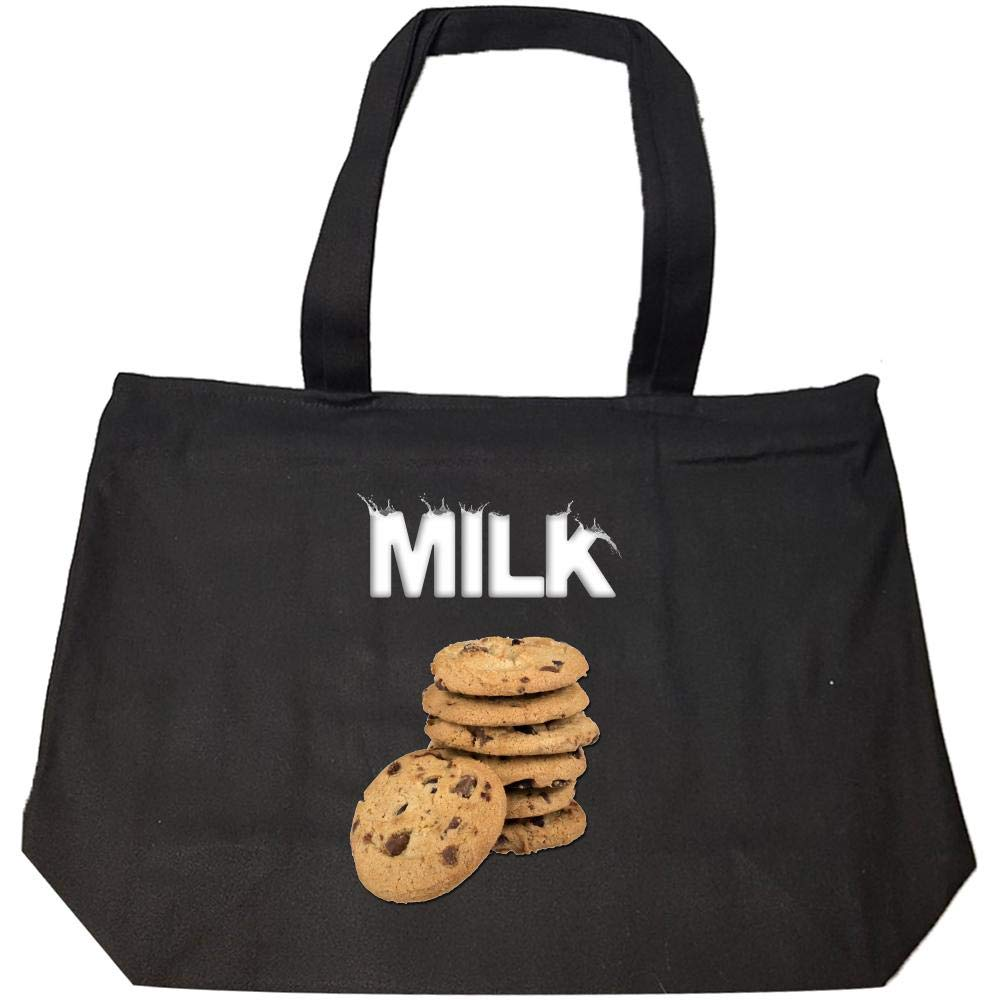 Milk and Chocolate Chip Cookies Gift - Idea for Athlete - Fashion Zip Tote Bag