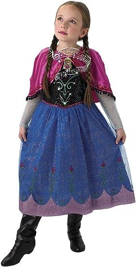 Frozen - Disfraz Anna con luz y música, talla 5-6 años (Rubies ...