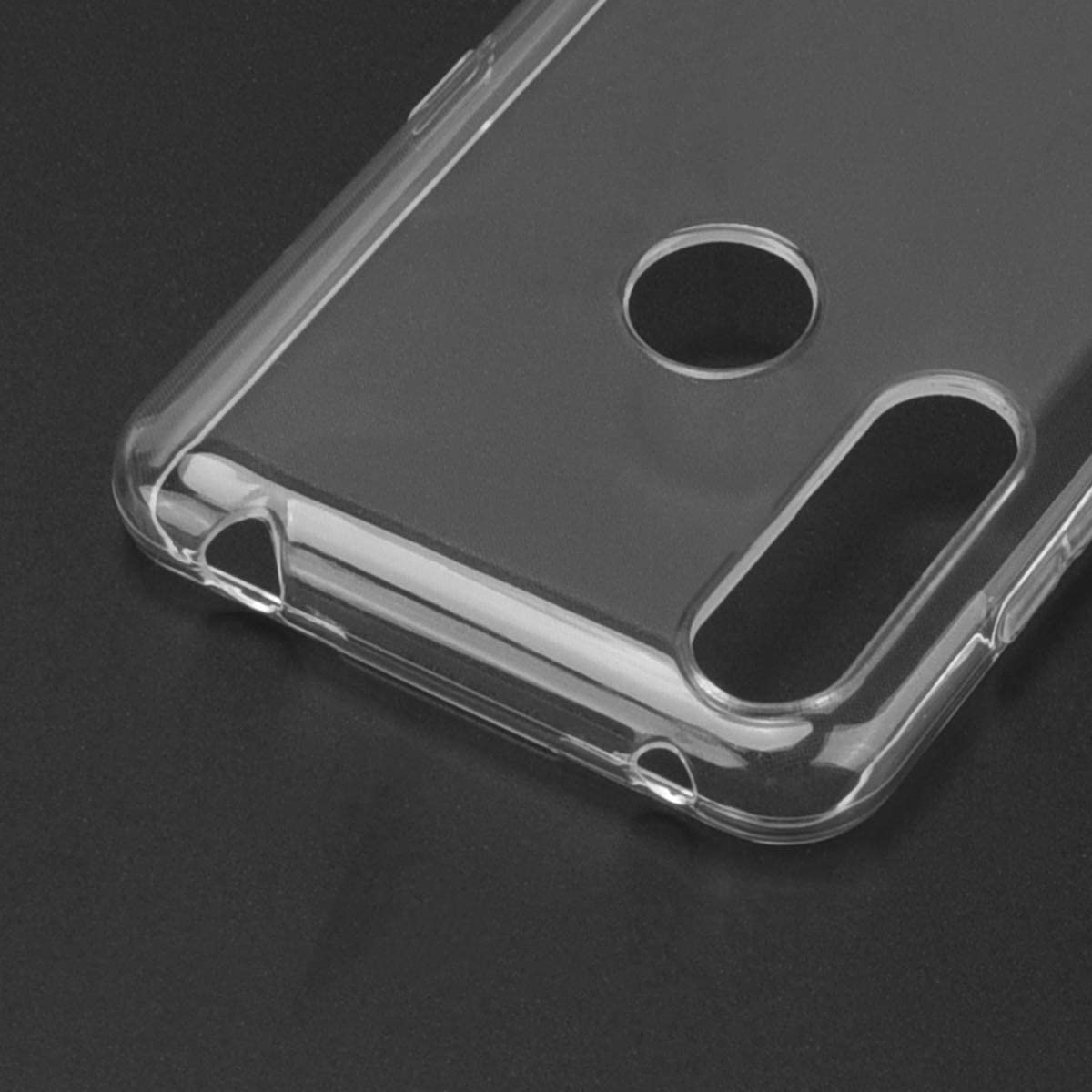 ROVLAK Funda para Alcatel 1S 2020 Silicona Case Transparente Clear Cover Ultra Delgada Ligera Antigolpes Carcasa Anti-ara/ñazos Estuche TPU Silicona Phone Case para Alcatel 1S 2020