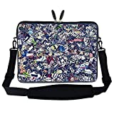 Meffort Inc 17 17.3 inch Neoprene Laptop Sleeve Bag Carrying Case with Hidden Handle and Adjustable Shoulder Strap - News Clips 2
