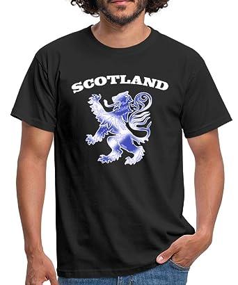 36426afa Spreadshirt Scottish Lion Rampant Scotland Saltire Flag Men's T-Shirt, S,  black