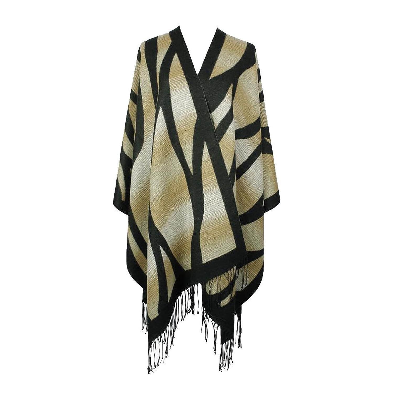 Doncielo Gradient Color Large Shawl Winter Warm Scarves