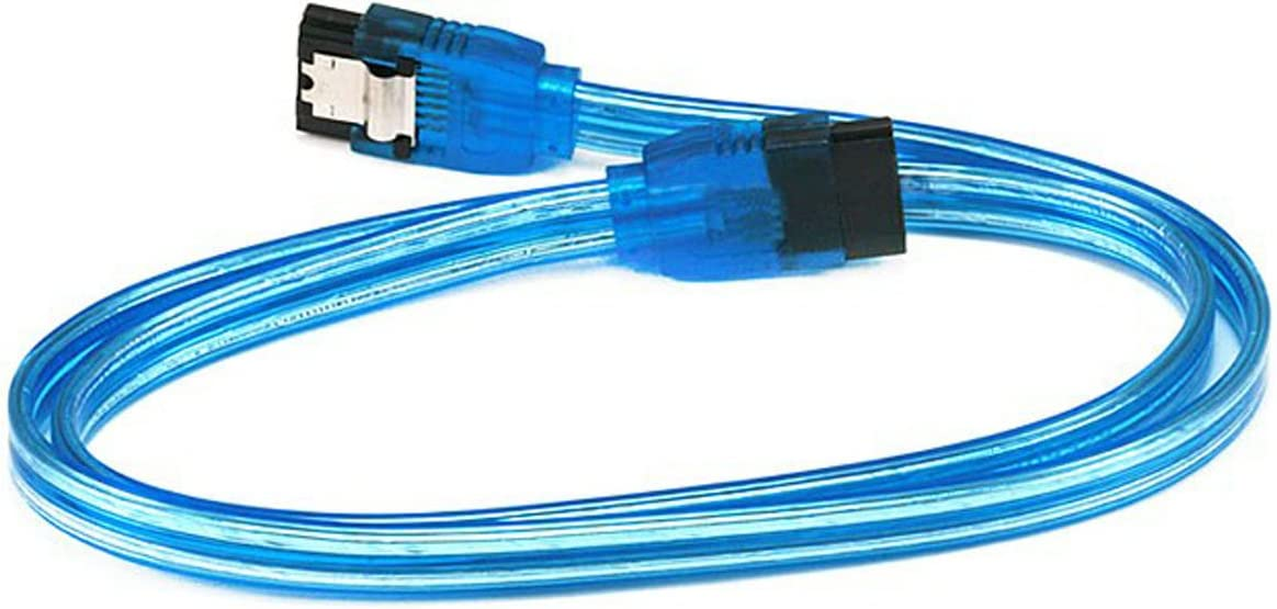 CNE565798 90 Degree to 180 Degree 18 inch SATA 6Gbps Cable w//Locking Latch Blue 12 Pack