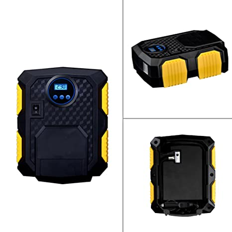 64b590e53693b Mini compresor de aire portátil 12 V – Inflador de neumáticos con pantalla  LCD para peneus