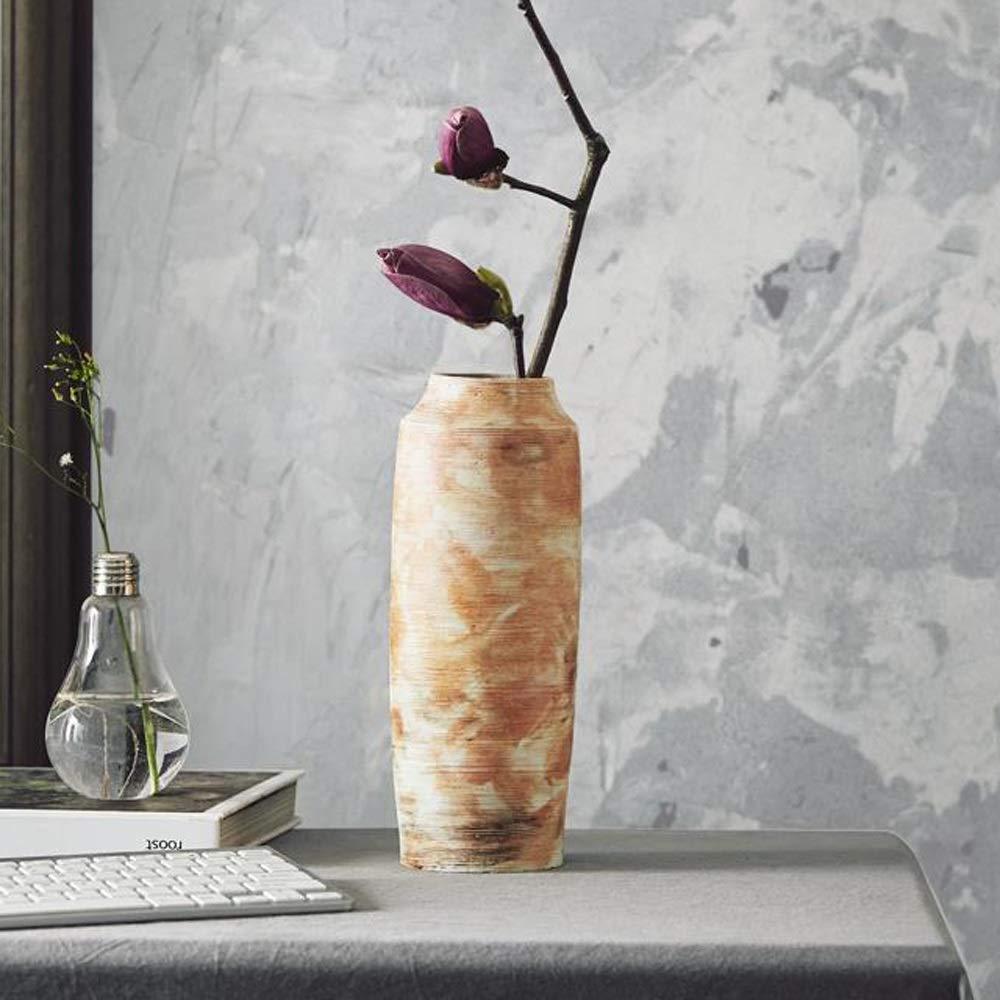 セラミック花瓶用花緑植物結婚式の植木鉢装飾ホームオフィスデスク花瓶花バスケットフロア花瓶 (色 : オレンジ) B07R8YV9SG オレンジ