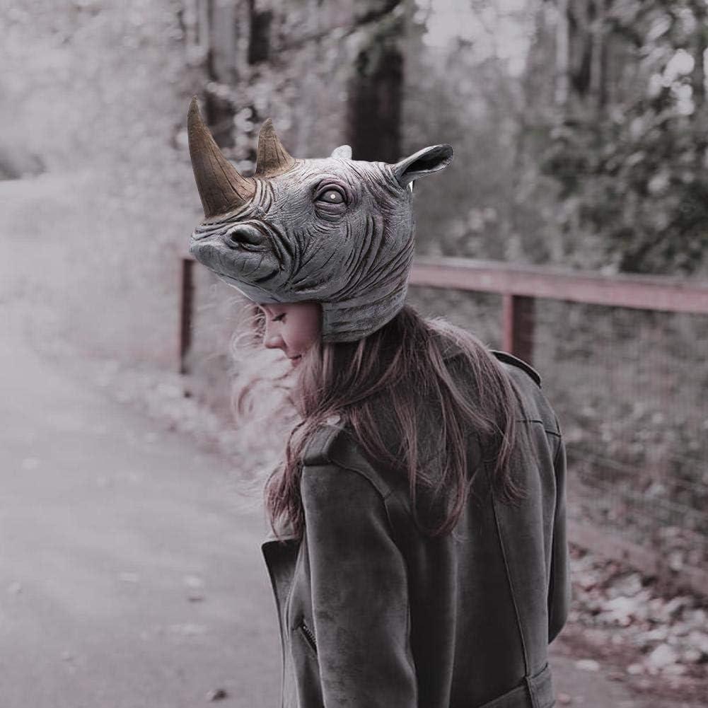 iB/àste Effrayant Masque Unique Rhinoc/éros Perruques Alien Bar Rangement Props D/émon Monstre Masque Masquerade Bar Masque De Partie Masquerade