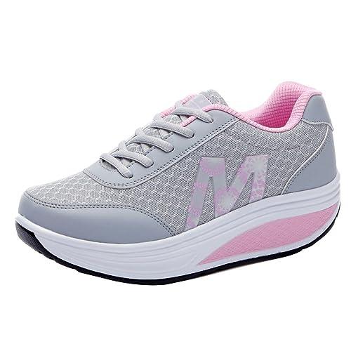 Señoras Atlético Zapatos Chicas Zapatillas Mujer Aptitud Sacudir Zapatos: Amazon.es: Zapatos y complementos