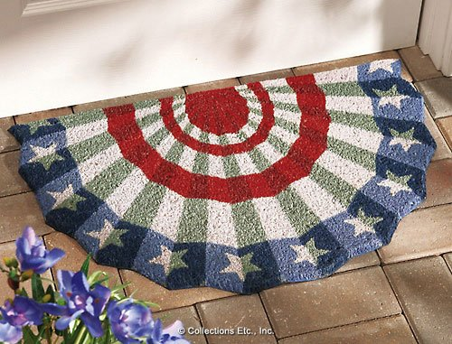 Patriotic American Flag Bunting Welcome ()