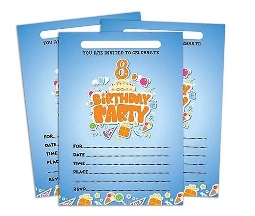 Darling Souvenir Invitación Azul del cumpleaños Tarjeta para ...