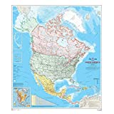 "North America Wall Map - Atlas of Canada - 34"" x 39"" Paper"