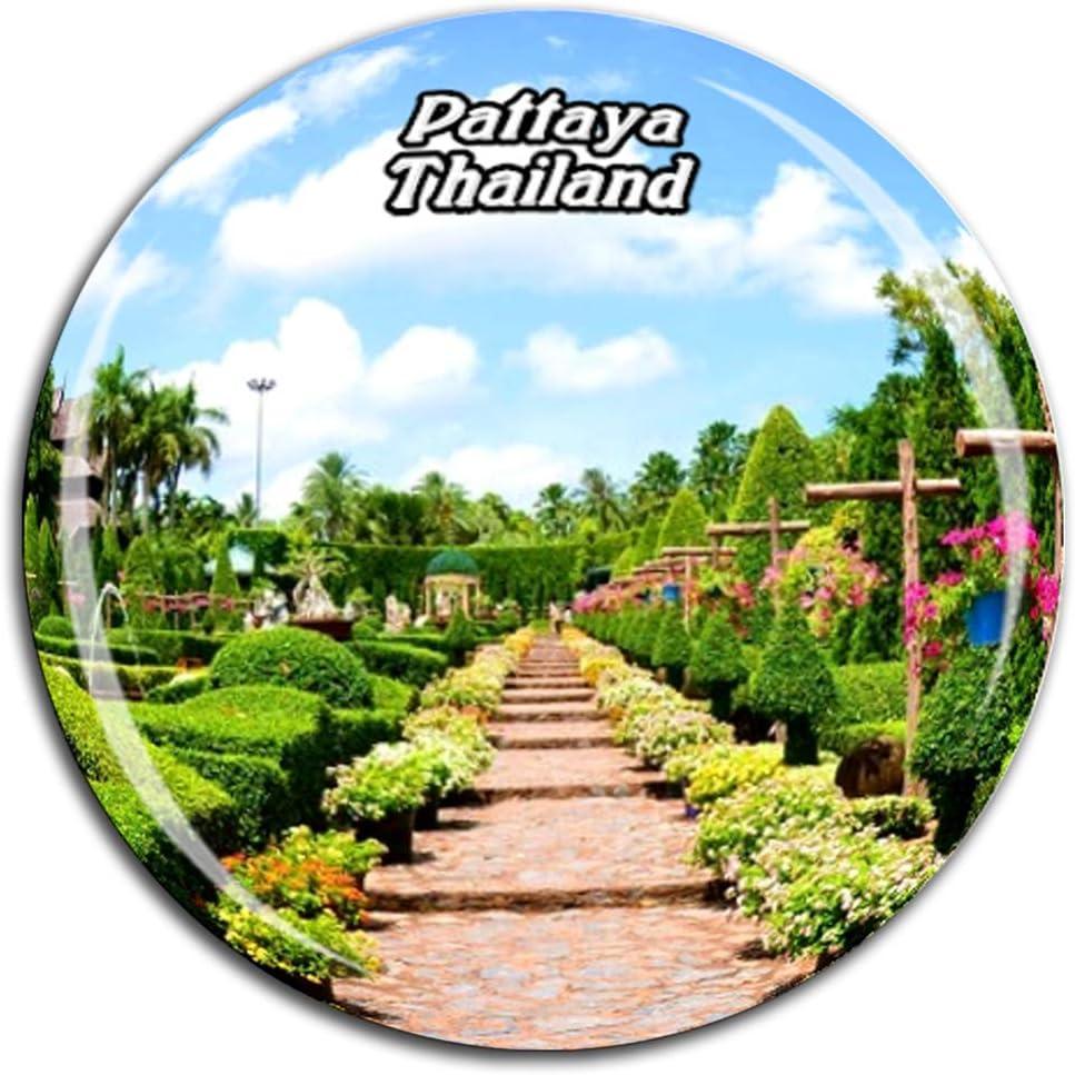Weekino Nong Nooch Jardín Botánico Tropical Pattaya Tailandia Imán de Nevera Cristal de Cristal 3D Turista Recorrido de Recuerdos de la Ciudad Regalo Fuerte Etiqueta Engomada del refrigerador: Amazon.es: Hogar