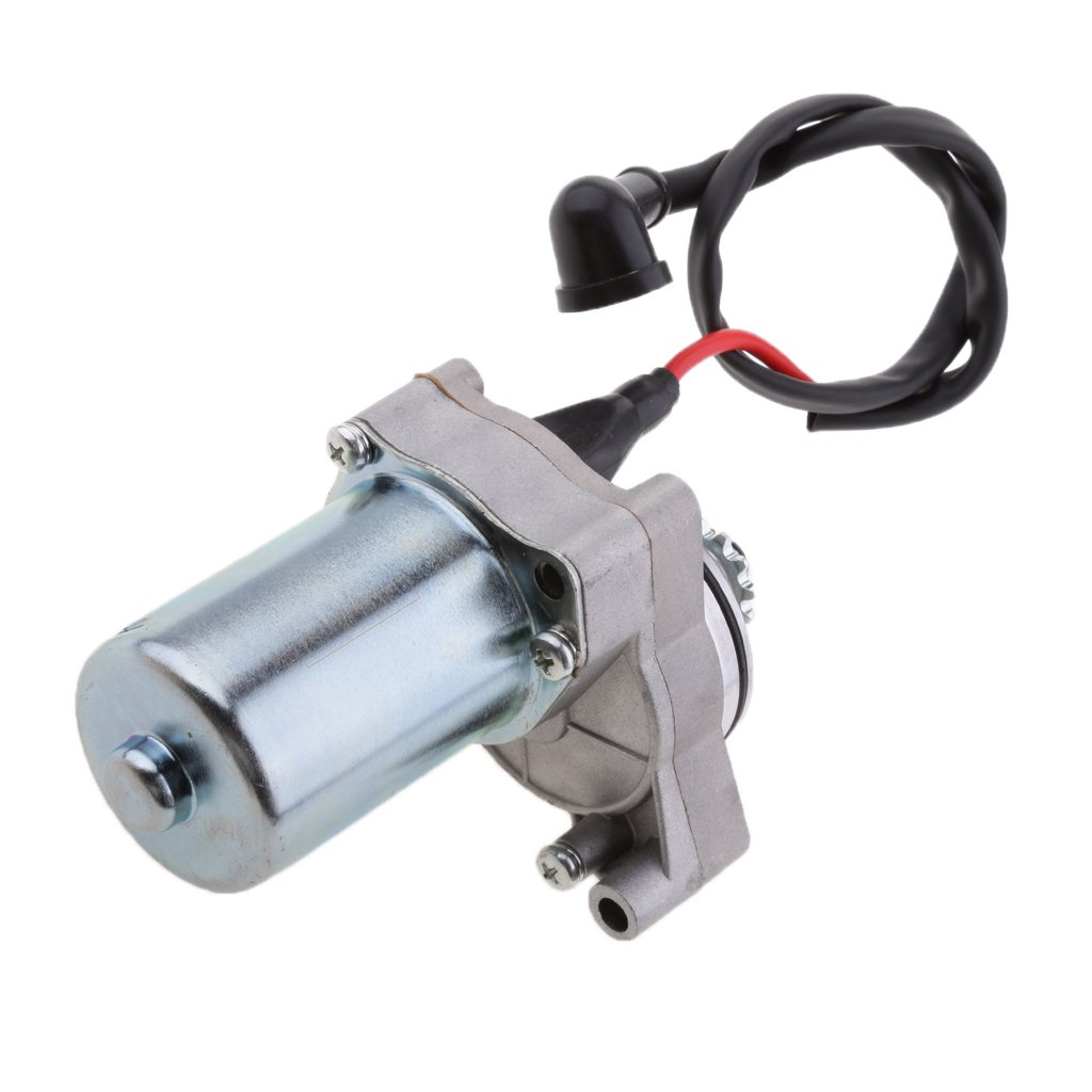 MonkeyJack Electric Starter Motor 50 70 90 110 125cc ATV Quad 3 bolt Upper Engine Mount