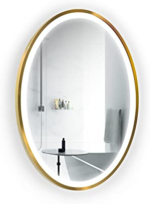 Amazon Com Krugg Led Bathroom Round Mirror 22 Inch