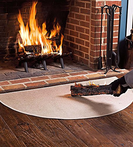Fire Retardant Fiberglass Half Round Hearth Fireplace Area
