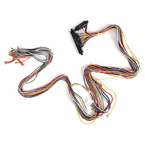 Buy Prettyia JAMMA Wiring Harness With Wire Id Label Arcade ... on