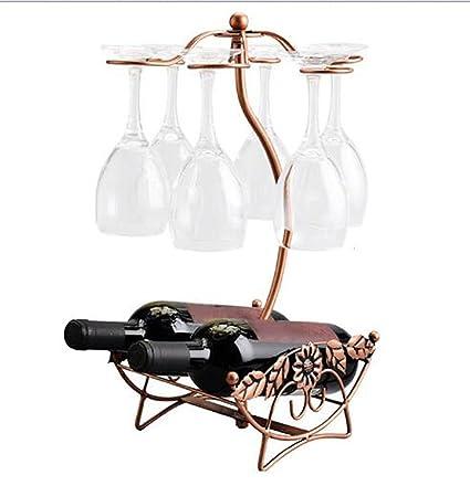 Botellero Soporte para botellas Copa de vidrio, diseño de botellas de champán de vino para