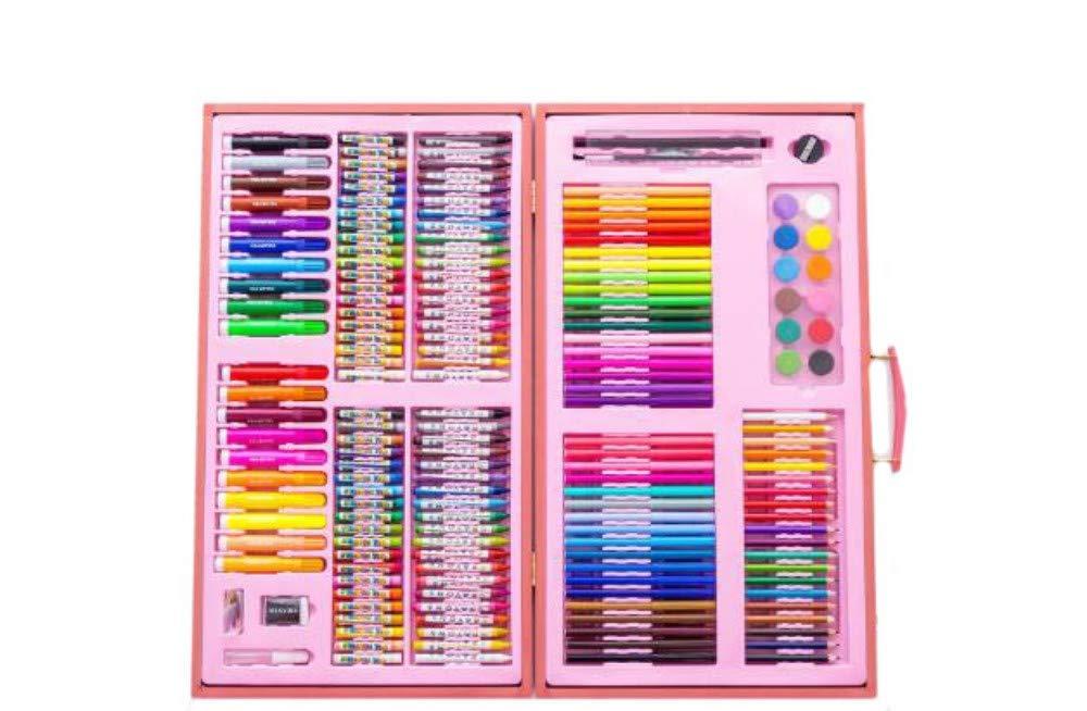 HQYDBB Kids Art Set, 180 Kit di Pittura per Bambini, Penne per acquerelli di Scuola primaria, pastelli, Combinazione di Strumenti di Arte del pigmento