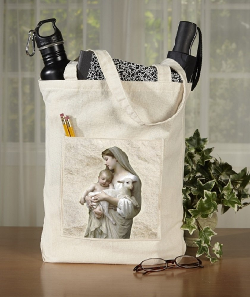 Innocent Collection Tote Bag with Pocket, 13'' x 14'' H with 3'' Gusset, 12 Pack.