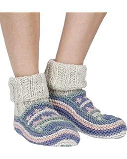 Arica warm handmade wool bed// sofa socks in greyPachamama Fairtrade