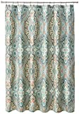 Echo Design Sterling Cotton Printed Shower Curtain Deep Green 72x72
