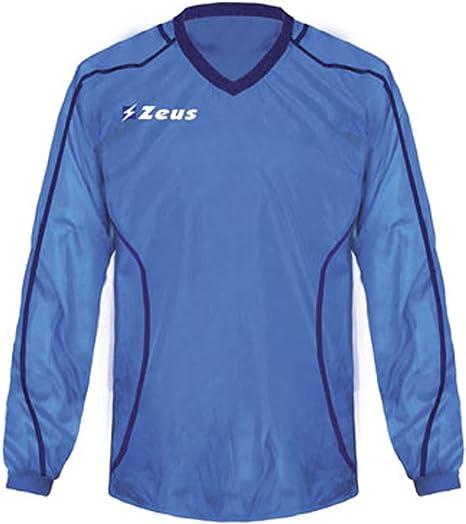 Zeus K-way Rain Royal Corsa Sport Uomo Pioggia Running jogging Allenamento Relax Calcio Calcetto Impermeabile Scuola Sport