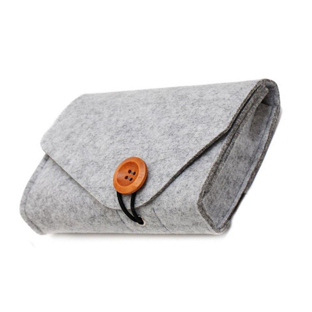 tragbare Mini-Filztasche f/ür Zubeh/ör grau Maus, Handy, Kabel, SSD, Festplattengeh/äuse, Powerbank und mehr Filz-Aufbewahrungstasche