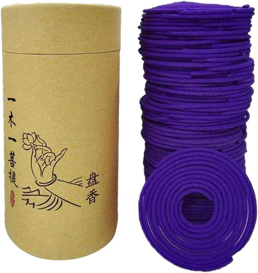 120pcs/box Spiral Incense Coils Buddhist Incense Natural Spiral Coil Incense - Lavender