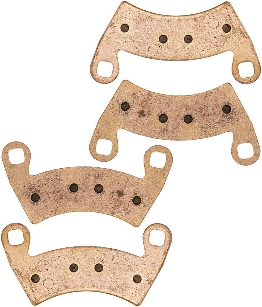 NICHE Brake Pad Set For Polaris Ranger XP 1000 Crew 570 RZR 900 500 700 General Diesel Sportsman Complete Ceramic 2 Pack