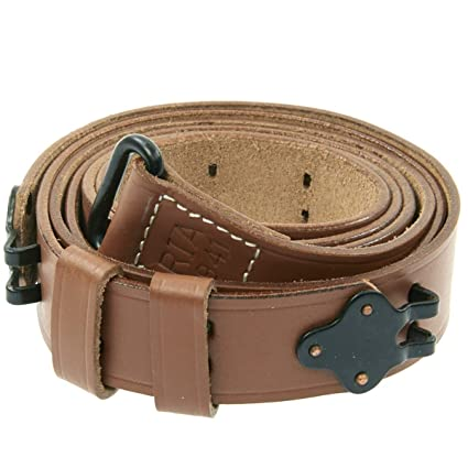 US M1 Garand WWII 1907 Pattern Leather Sling - Leather & Steel