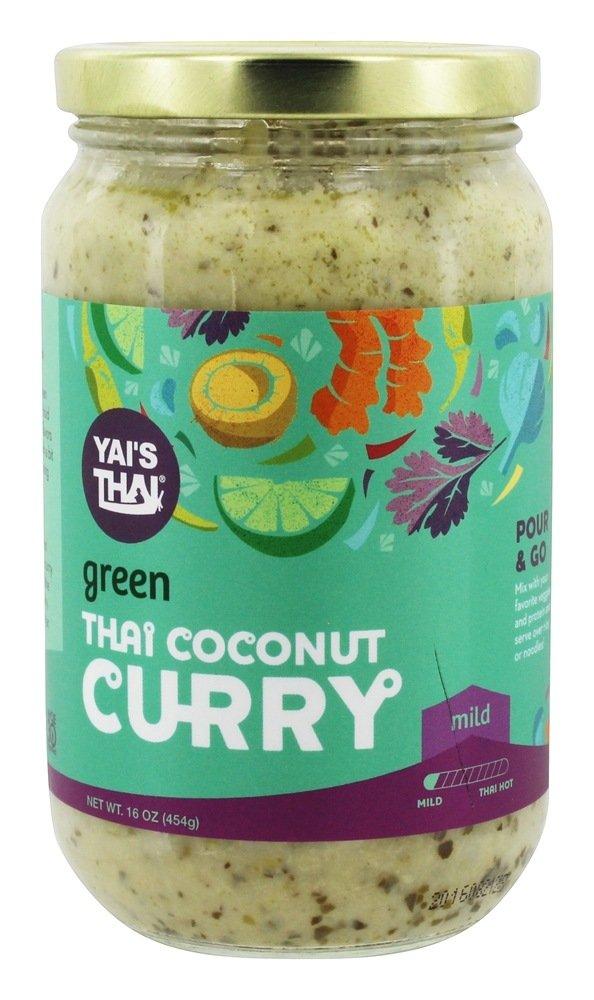 Yais Thai Curry Green Coconut, 16 oz