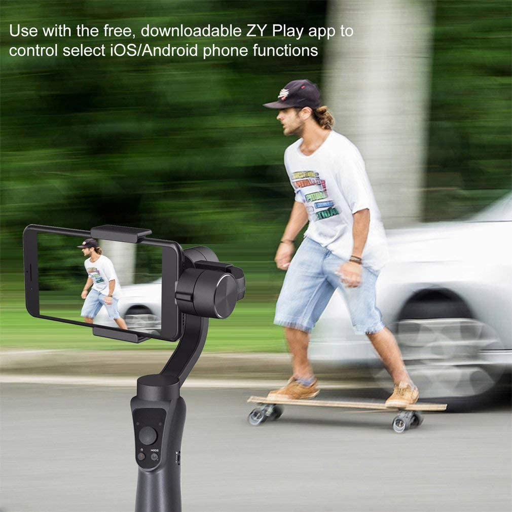 for Gopro3//4//5//6 Cameras Huanxin Smartphone Gimbal 3-Axis for Phones Below 6.0 Inches Face Object Tracking Smartphone Stabilizer