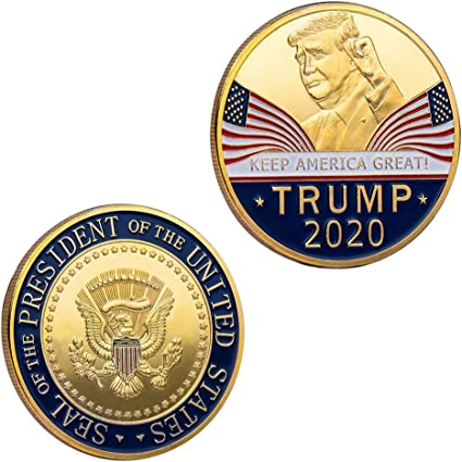 Trump Coin 2020 Keep America Great United States Presidential Challenge Coin Collectible