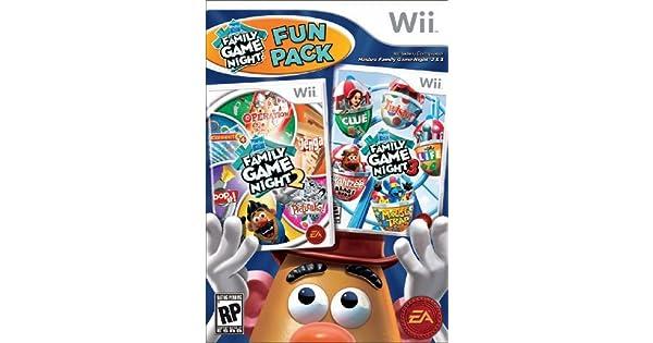 Hasbro Family Game Night Fun Pack - Nintendo Wii by Electronic ...
