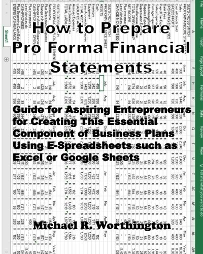 How to Prepare Pro Forma Financial Statements: Guide for Aspiring Entrepreneurs for Creating This Essential Component of Business Plans Using E-Spreadsheets such as Excel or Google Sheets