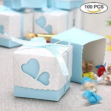 Bomboniera Matrimonio Azzurro : Meiso 100pz carta scatole bomboniera regalo scatole portaconfetti