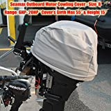 """Seamax Outboard Motor Cover (Size B: Girth 55"""", Height 15"""")"""