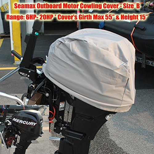 Seamax Outboard Motor Cover (Size B: Girth 55