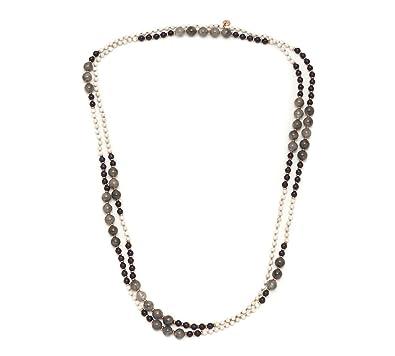 Lola Rose Women's Base Metal Ivy Ivory Stone Navy Quartz Necklace of Length 170 cm O0w8uhRl