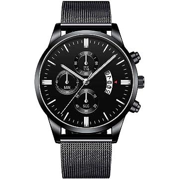Ladiy Fashion Men Casual Watch Mesh Steel Wrist Calendar Quartz Watch Wrist Watches