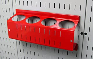product image for Wall Control Pegboard Spray Can Holder Bracket and Aerosol Can Organizer for Wall Control Pegboard and Slotted Tool Board – Red