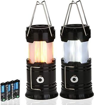 Retractable Camping Light LED Tent Lamp Flashlight Mini Lantern Battery Powered