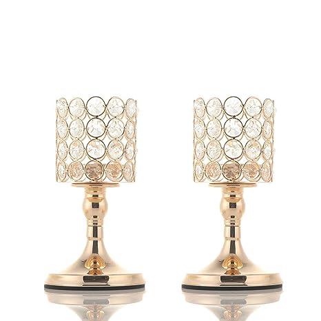 Vincigant Candelabros De Cristal Portavelas De Velas Pequeñas Para Decoración Del Hogar Boda Centros De Mesaregalo Para La Celebración Del