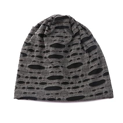 E-House - Gorro de lana para hombre, diseño de otoño, color negro ...
