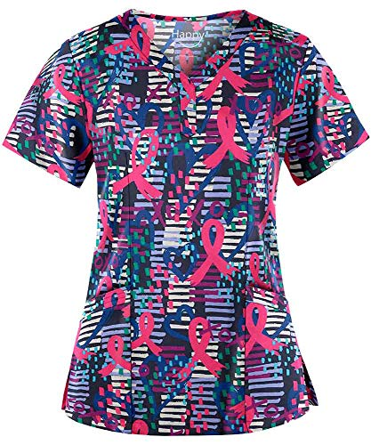 Best breast cancer awareness scrubs for women for 2020
