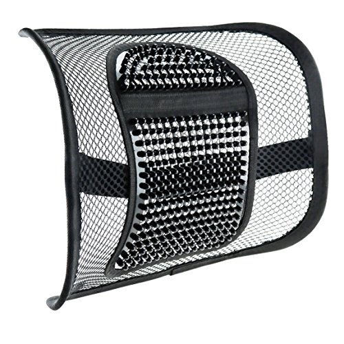 "Mesh Lumbar Support for Car Seat or Office Chair, VEY Breathable Seating Cushion for All Types Car Seats Office Chair 12"" x 16"" by ACVCY"