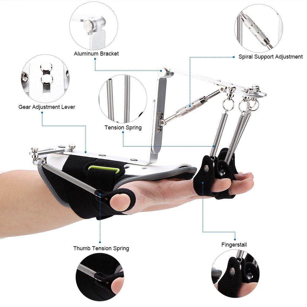 指の手首矯正用 リハビリトレーナーテンドン 練習 調整可能 安定性 B07BSJP2D4