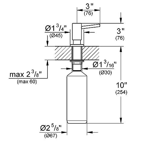 Grohe Cosmopolitan - Dispensador de jabón para cocina, cromo Ref. 40535000: Amazon.es: Bricolaje y herramientas